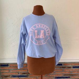 LA Hearts lavender crew neck sweatshirt